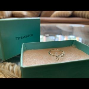 Tiffany and co. Butterfly 925 silver ring & box &